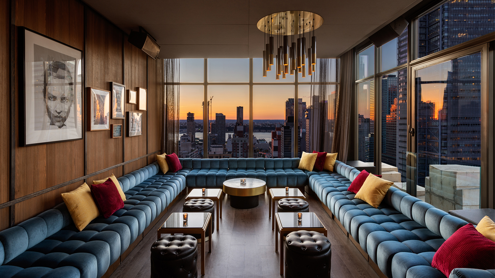 skylark main lounge sunset view
